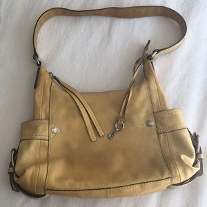 Fossil Yellow Leather Shoulder Bag